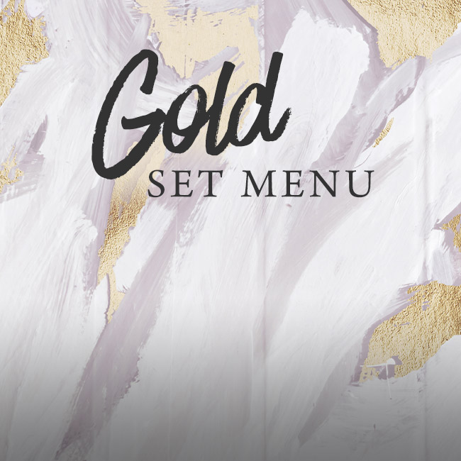 Gold set menu at The Victoria