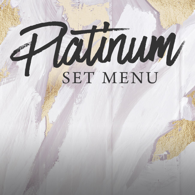 Platinum set menu at The Victoria
