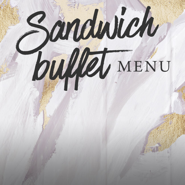Sandwich buffet menu at The Victoria