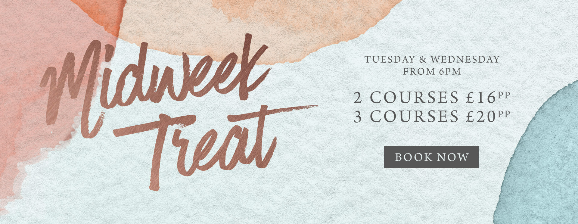 Midweek treat at The Victoria - Book now