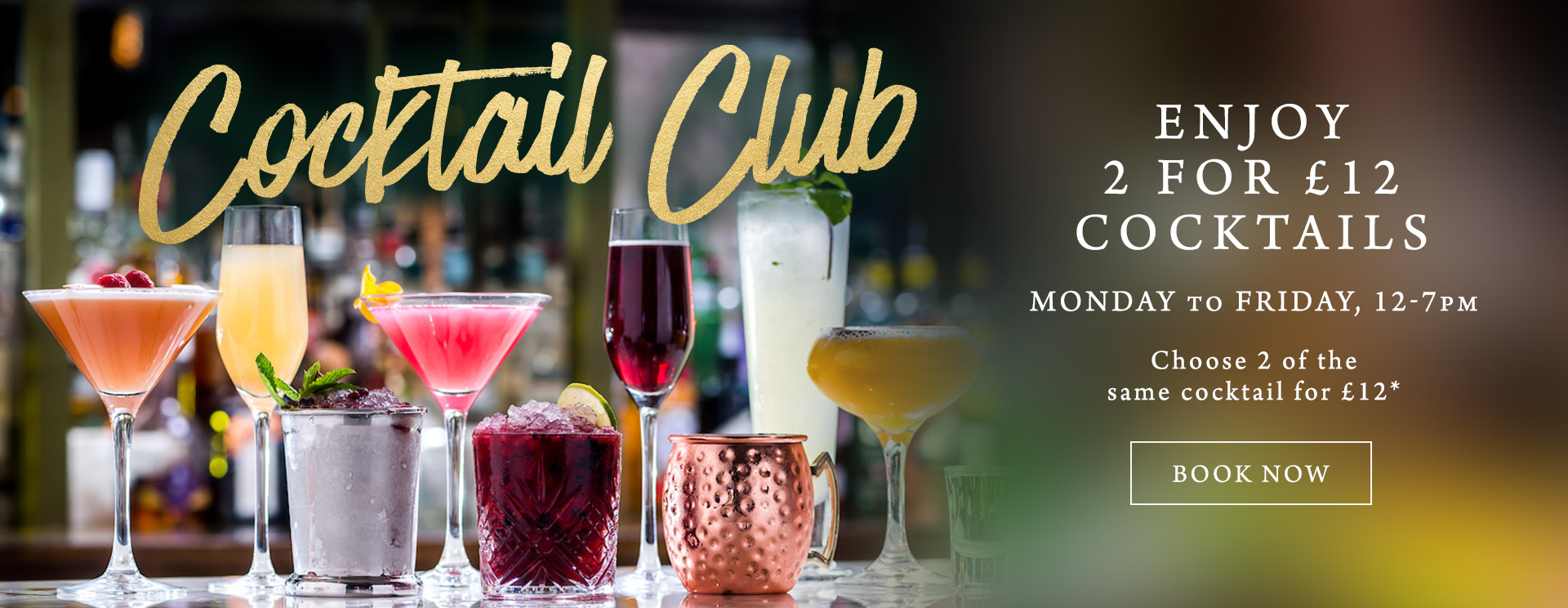 2 for £12 cocktails at The Victoria